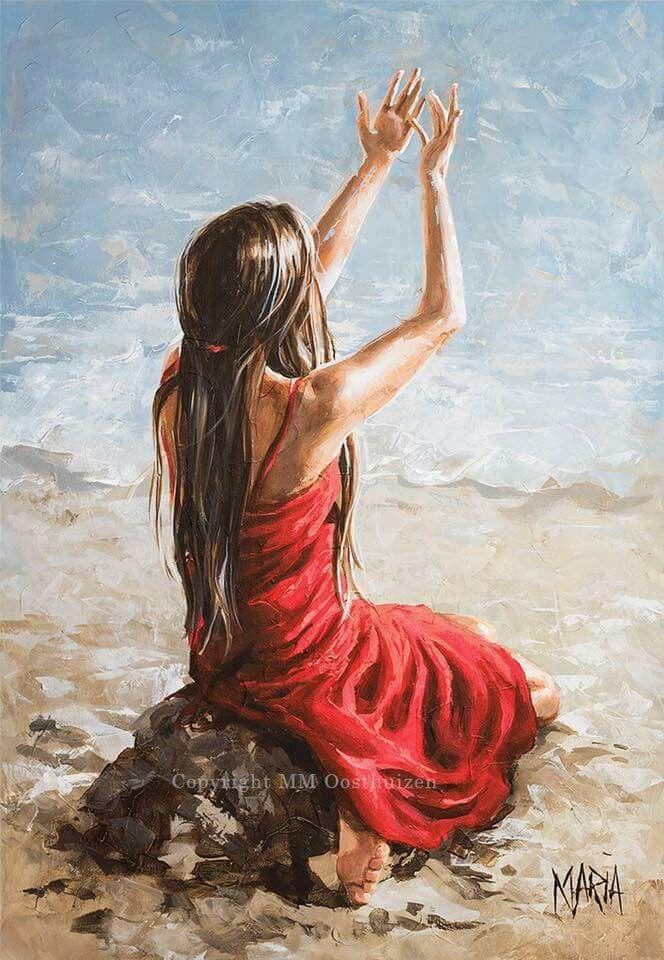 Original Fine Art Painting by Maria Magdalena Oosthuizen | Prophetic art, Art painting, Jesus art