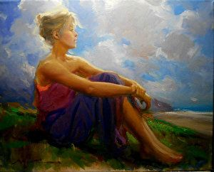 Summer by F. Michael Wood Oil ~ 16 x 20