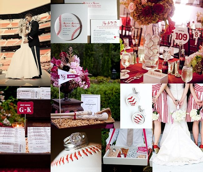 An Elegant Baseball Themed Wedding