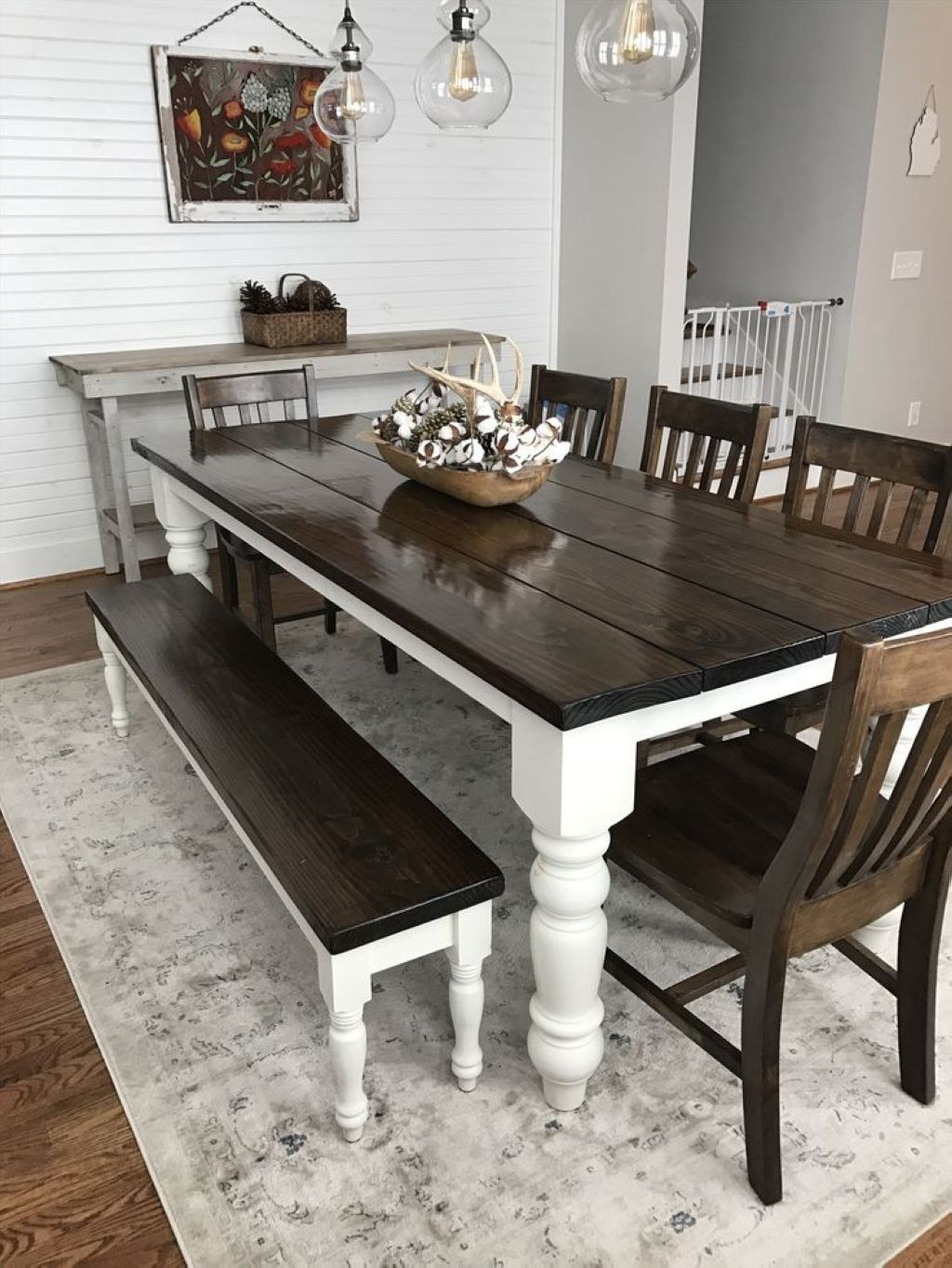 farmhouse style kitchen table set with bench kitchen table sets
