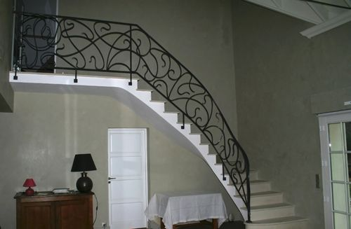 rampe d 39 escalier en fer forg rf4 id es rampes pinterest staircases stairways and iron. Black Bedroom Furniture Sets. Home Design Ideas