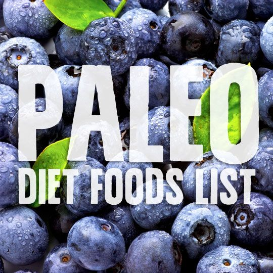 Paleo Diet Foods List- what you can and canno't eat while on the Paleo Diet.  I was really torn as to where to place this... What if I ate or What if I did...