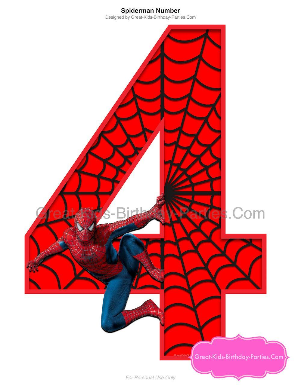 Spiderman Printable Number 4 Centerpiece Instant Download Etsy Spiderman Birthday Spiderman Party Spiderman Party Supplies
