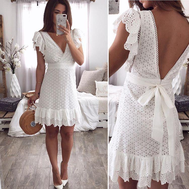 Lange weiße hippie kleider