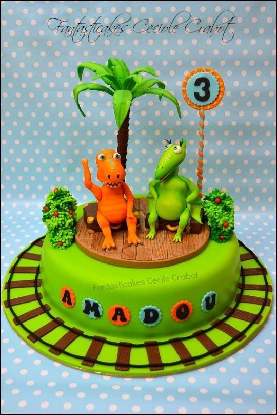 Dinosaur Train Cake Pops