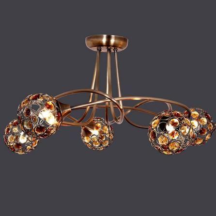 amber sphere 5 light ceiling fitting dunelm hallway. Black Bedroom Furniture Sets. Home Design Ideas