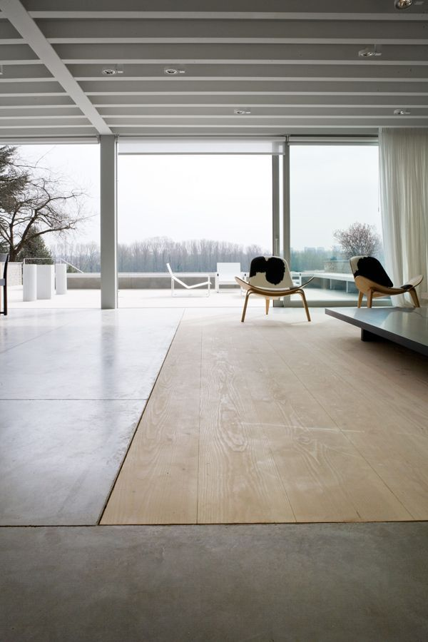 Floor Inspiration Where Concrete Meets Wood Floor
