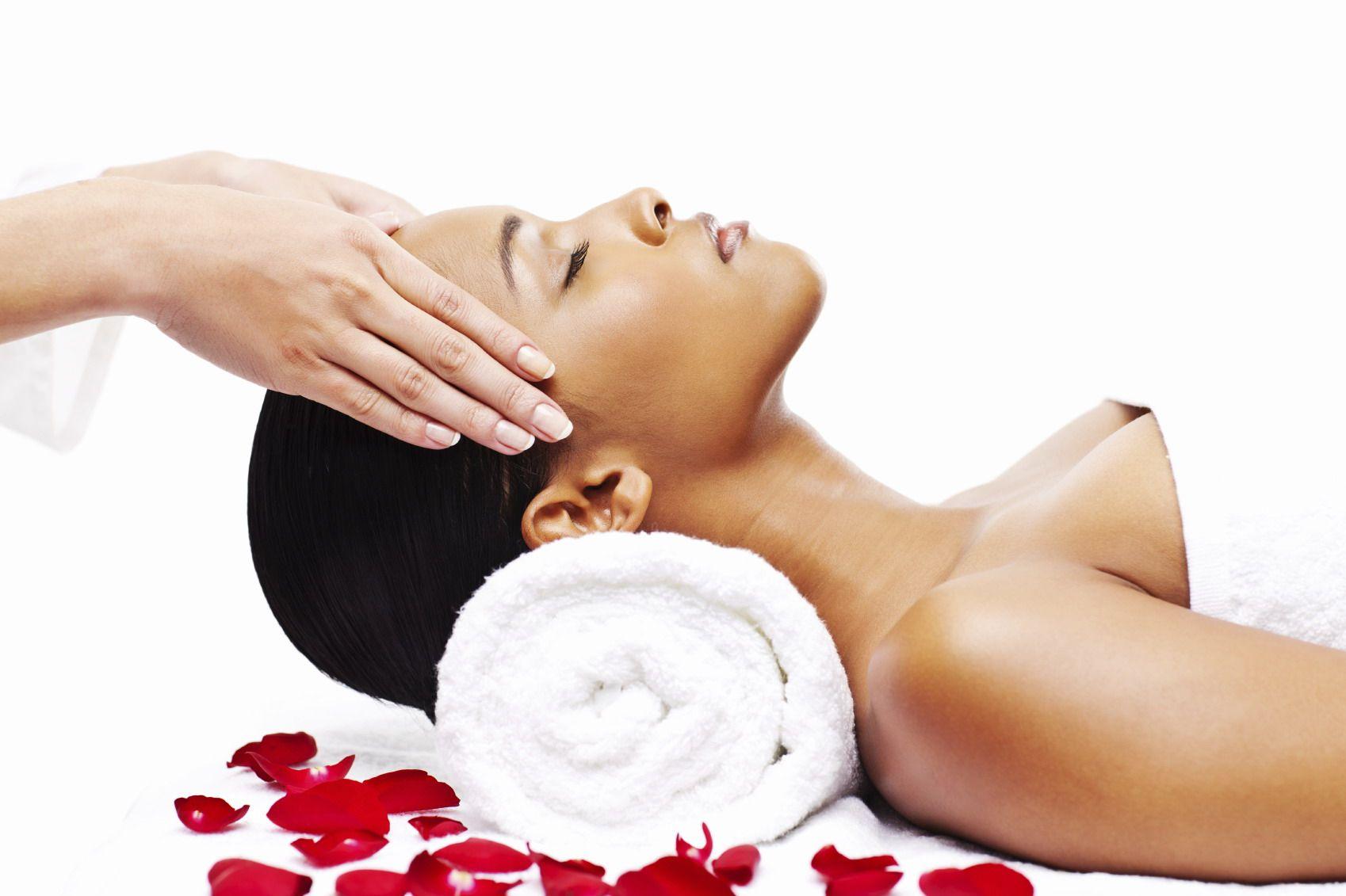 Indian Head massage i vores Afslappende Therapy Room-2041