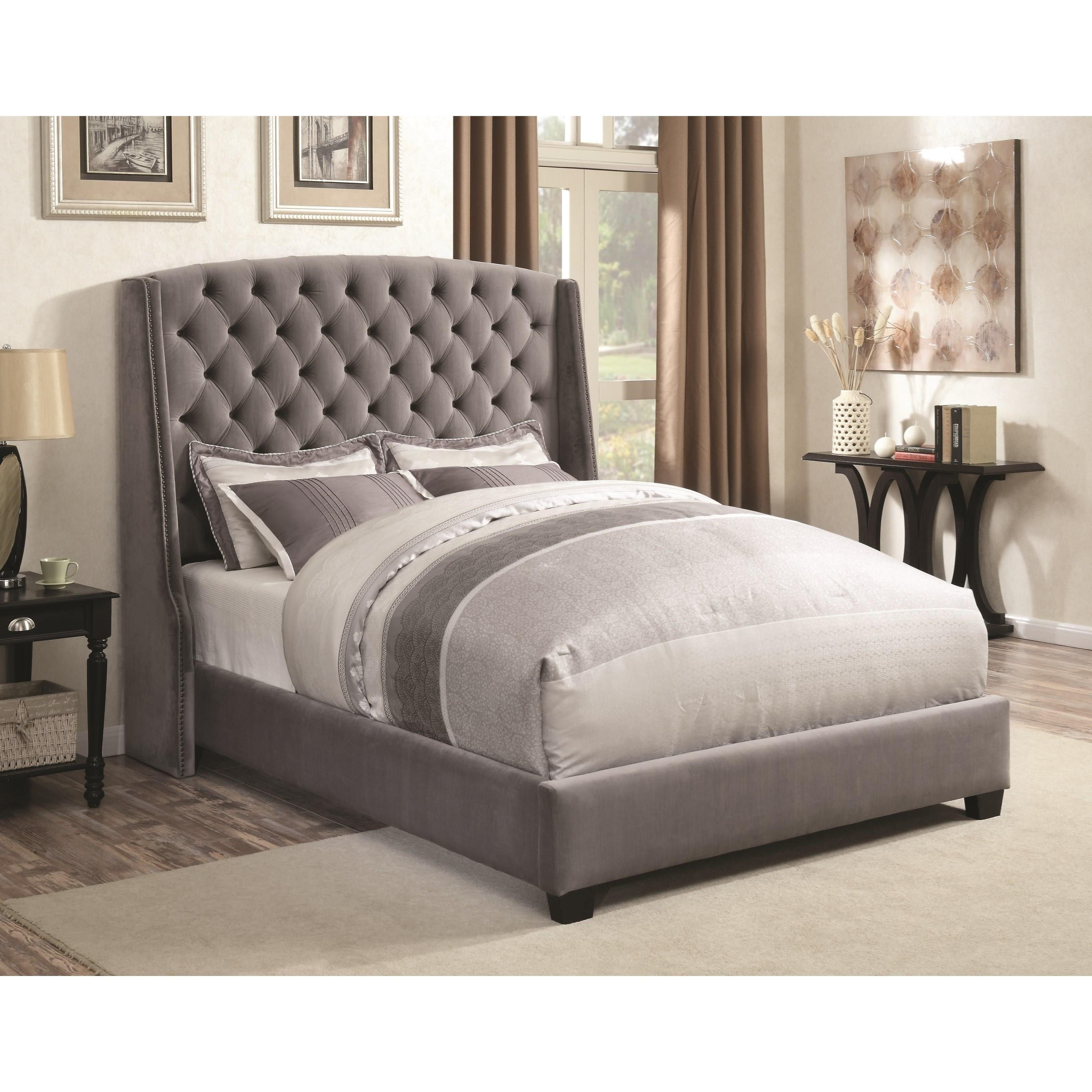 Coaster Upholstered Beds Wingback Queen Bed Fine Furniture
