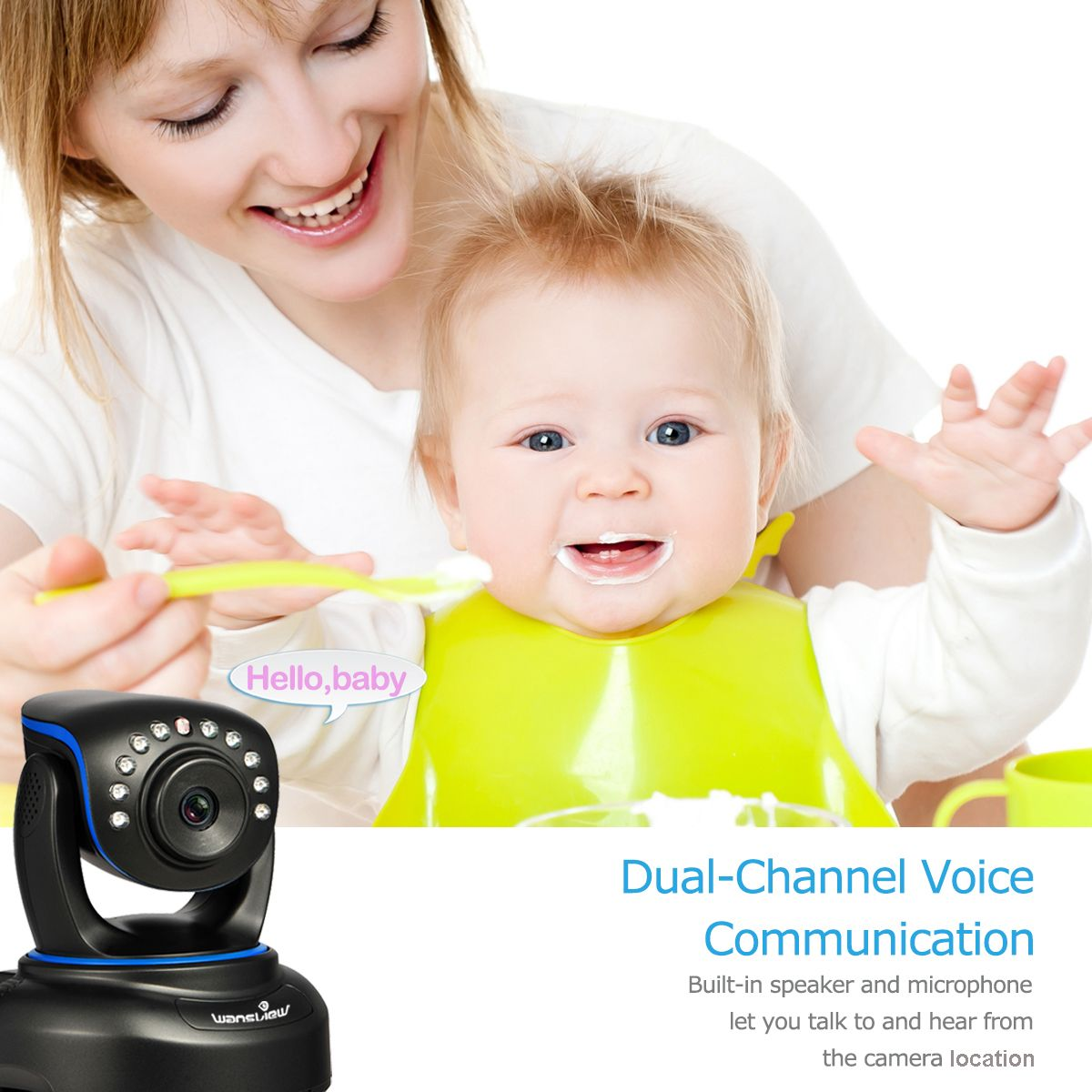 one toddler/baby one baby security camera   the camera is easily to