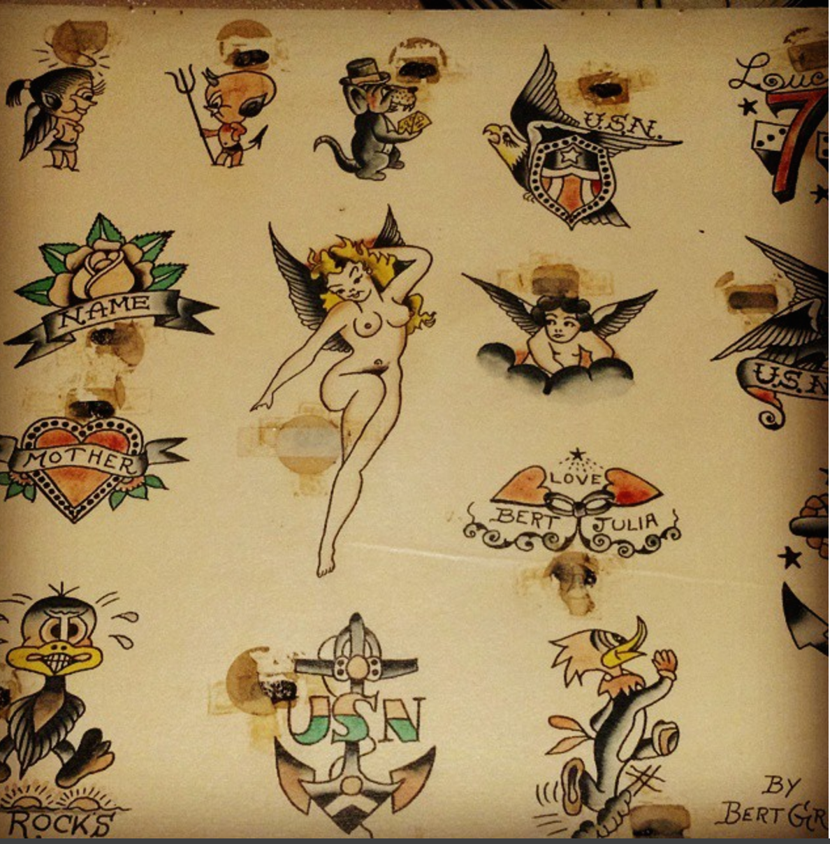 bert grimm vintage tattoo flash pinterest grimm tattoo flash and traditional flash. Black Bedroom Furniture Sets. Home Design Ideas