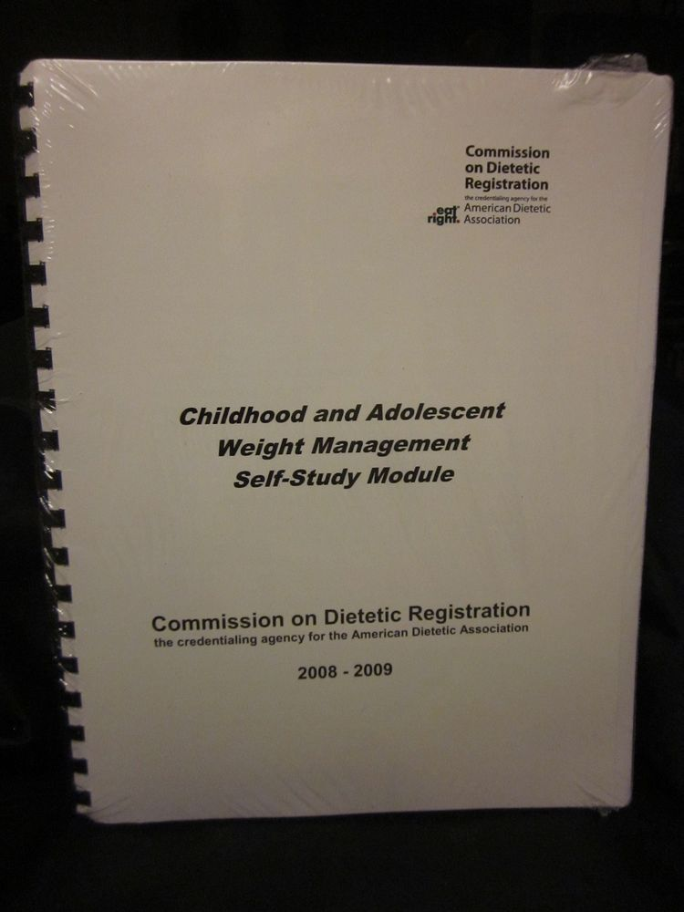 Cdr Childhood And Adolescent Weight Management Self Study Dietetics