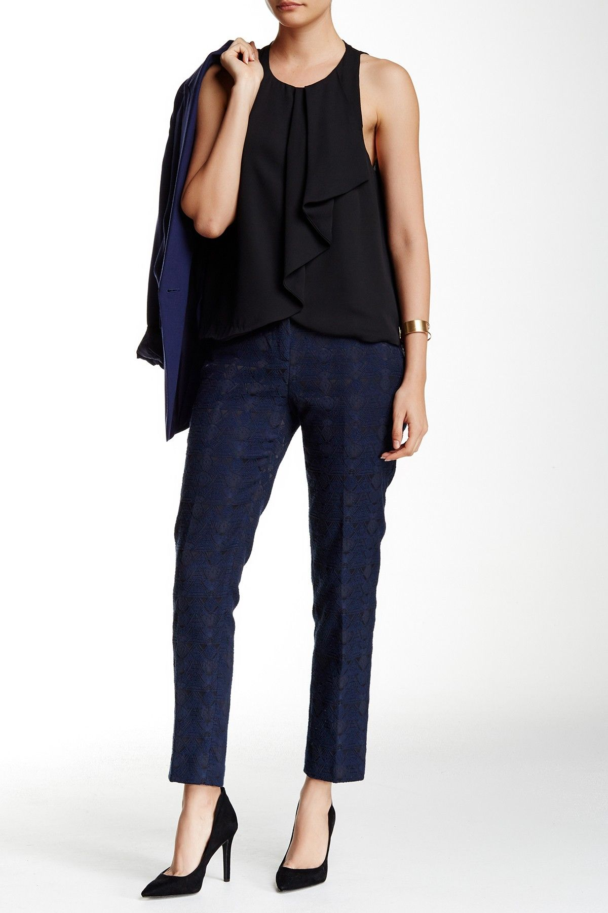 Amanda & Chelsea Jacquard W2W Pant Pants, Fashion