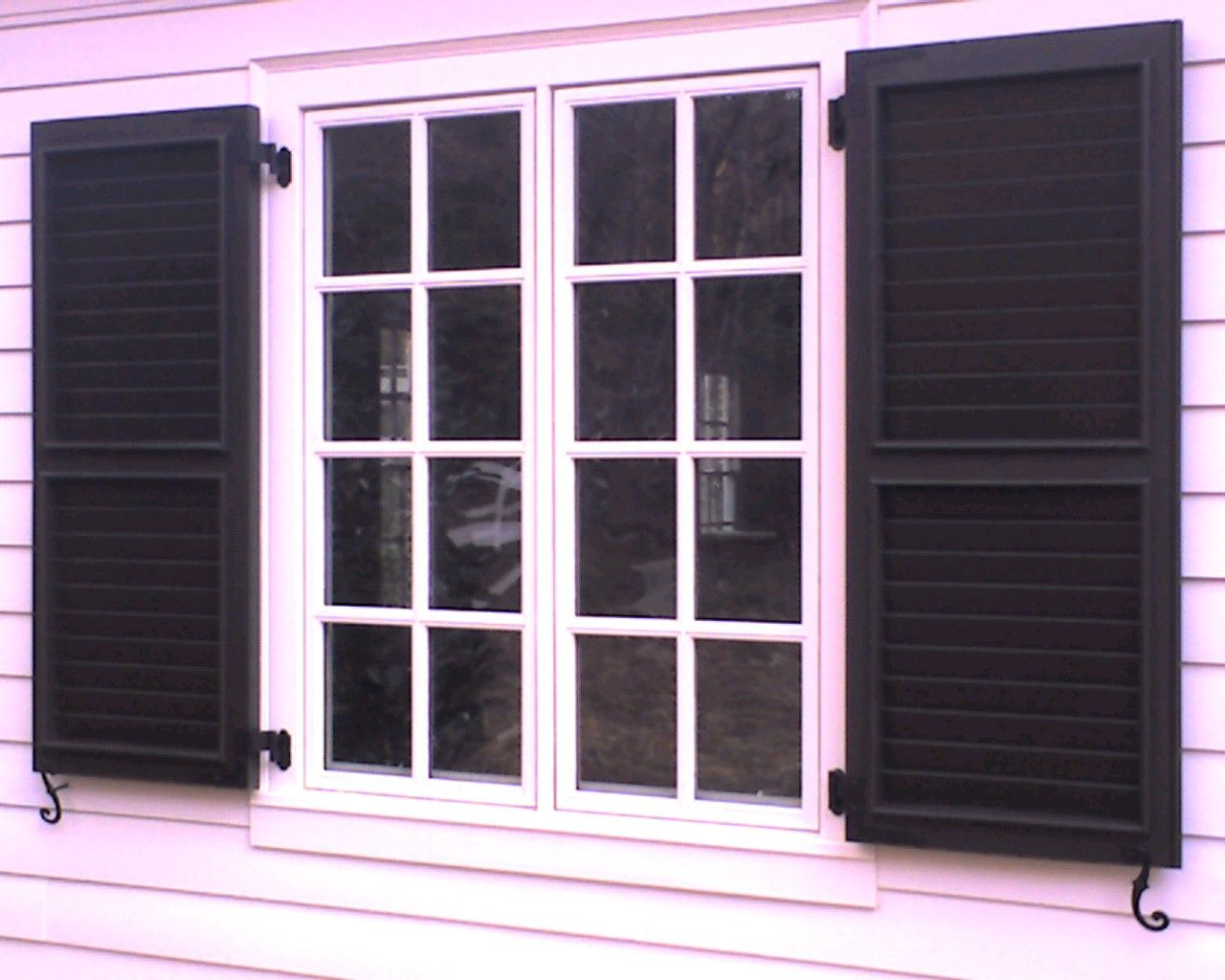 Exterior windows with shutters - Operational Window Shutters Exterior