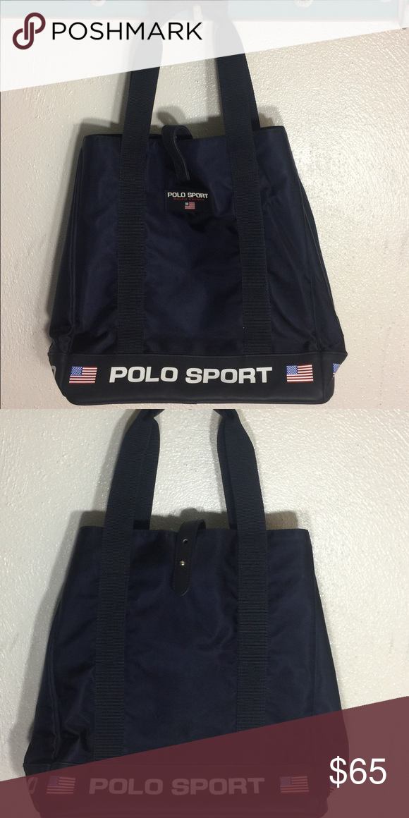 """fd97f87956 In EUC alph Lauren """"Vintage"""" Polo Sport Bag..Navy.. In Excellent Condition  ..Like new.. Kept in storage Polo by Ralph Lauren Bags Shoulder Bags"""