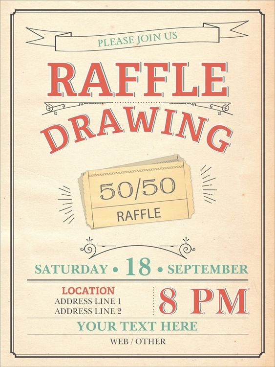 5050 Raffle Poster Ideas