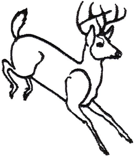 Image Result For Running Buck Deer Line Drawing Buck Deer Deer Silhouette Deer