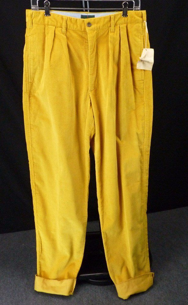 90s Vintage J. CREW Yellow Gold Corduroy Pants 31 Wide Wale ...