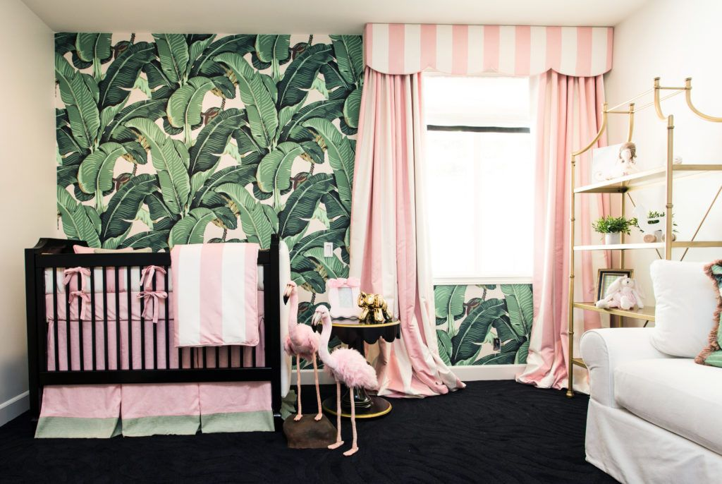 This nursery could not be more glam. Seriously.