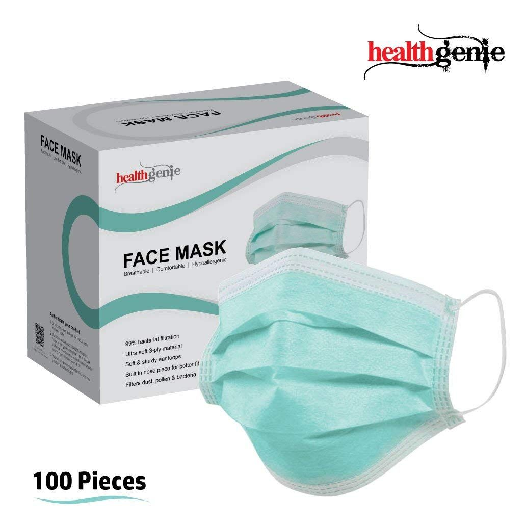 100 pack disposable face masks breathable dust filter masks