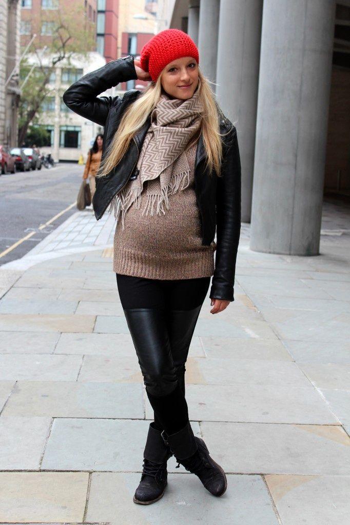 sreet style para embarazadas muy hermosas en este invierno