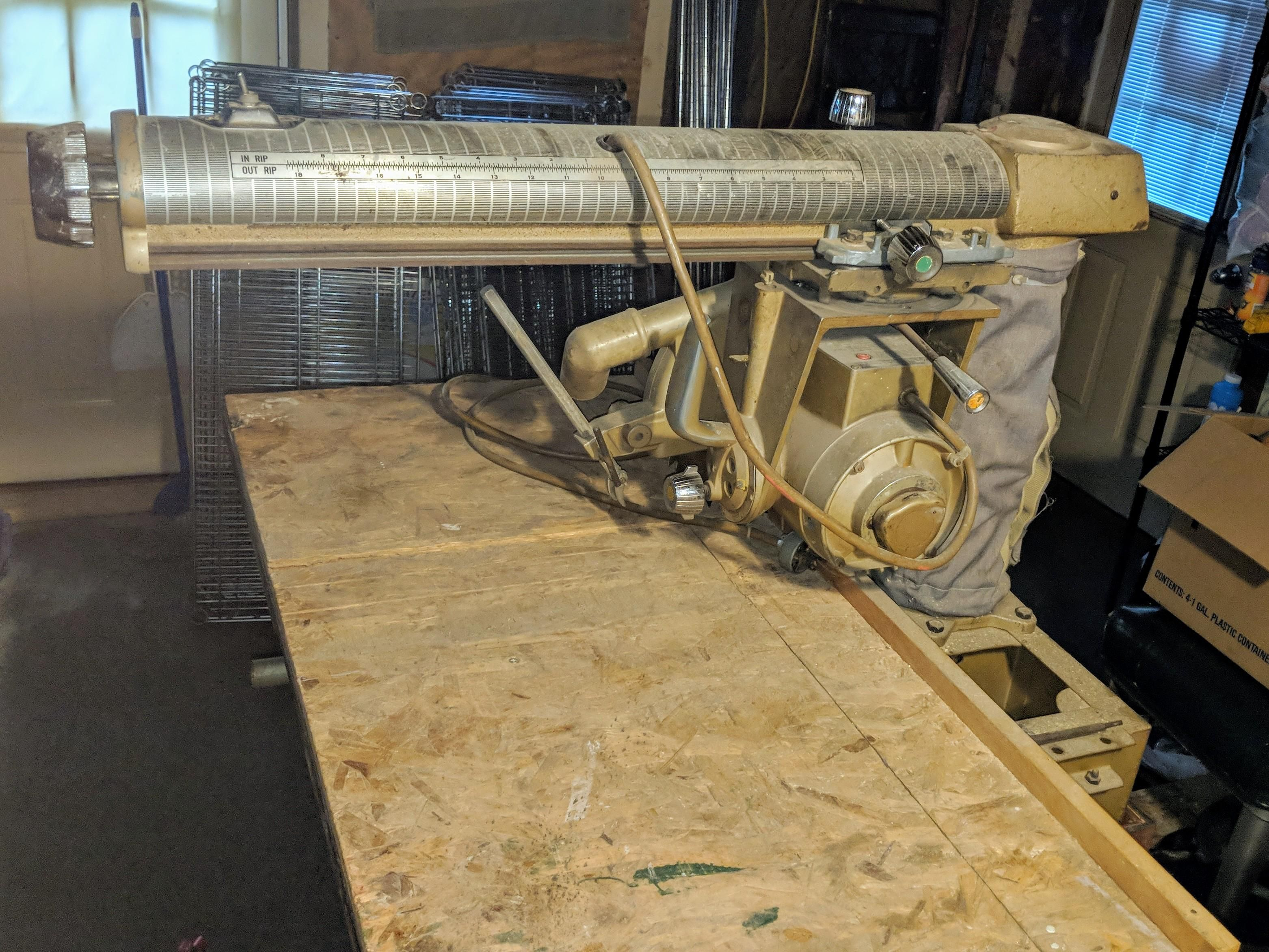 Craigslist score free radial arm saw! https//ift.tt