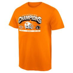 Tennessee Volunteers 2016 Outback Bowl Champions Hash Mark T-Shirt - Tennessee Orange