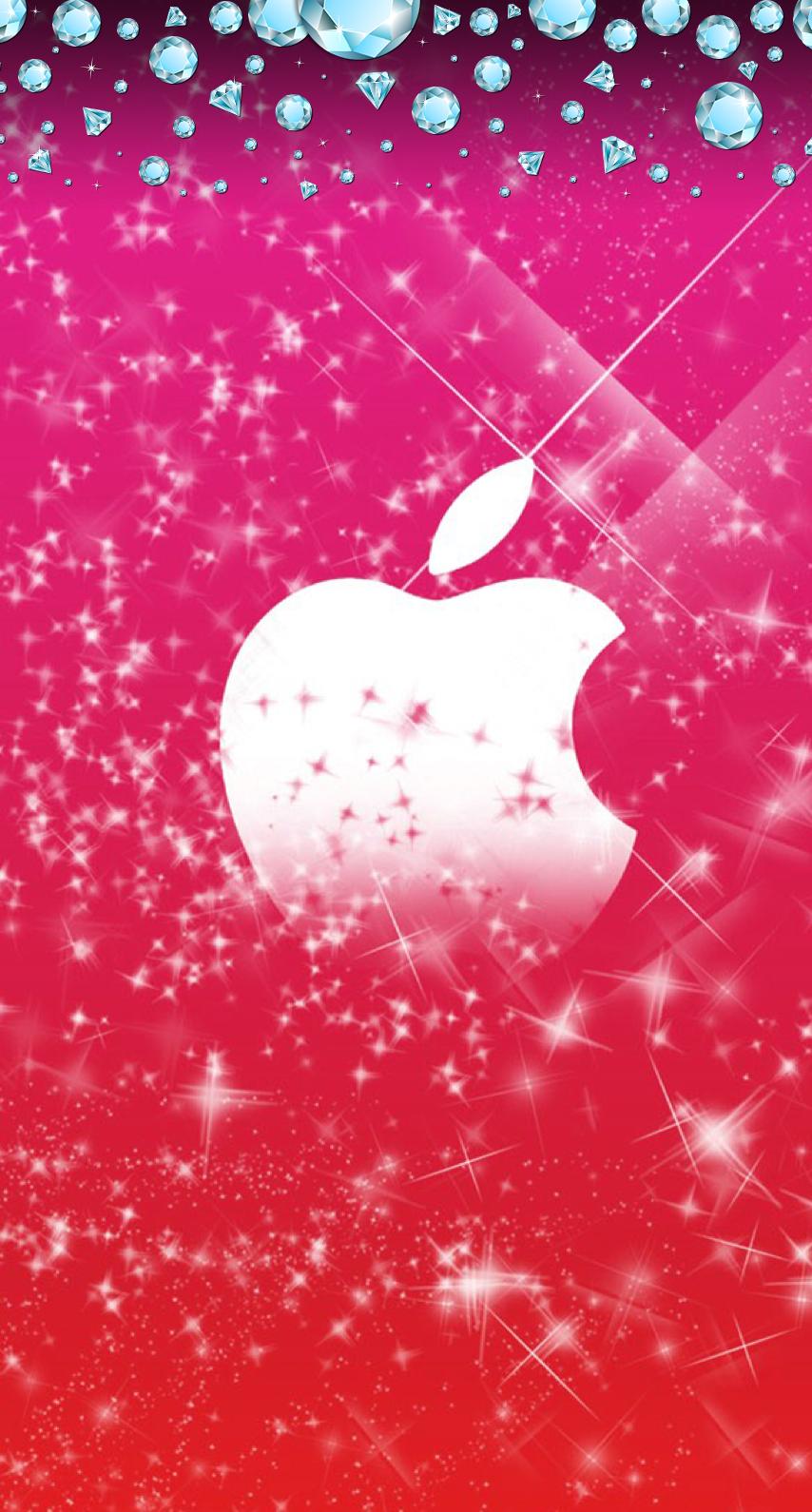 Pretty Apple Logo Wallpaper Pink Wallpaper Iphone Iphone Wallpaper Glitter Abstract Iphone Wallpaper