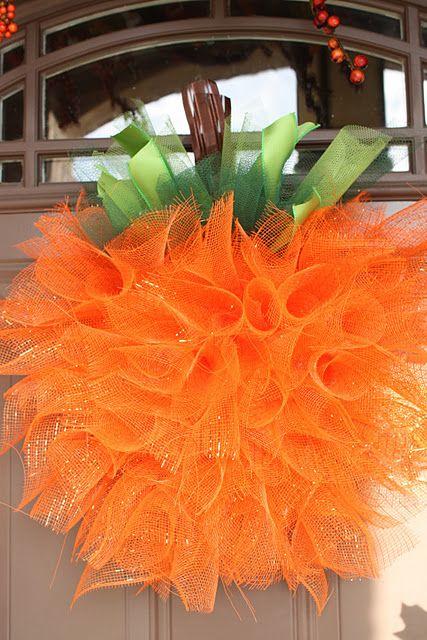 """pumpkin """"wreath"""" - so cute"""