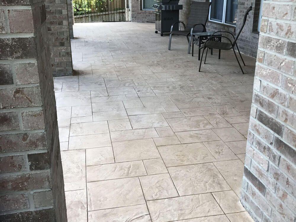 Stamped Concrete Patio San Antonio Backyard Designs