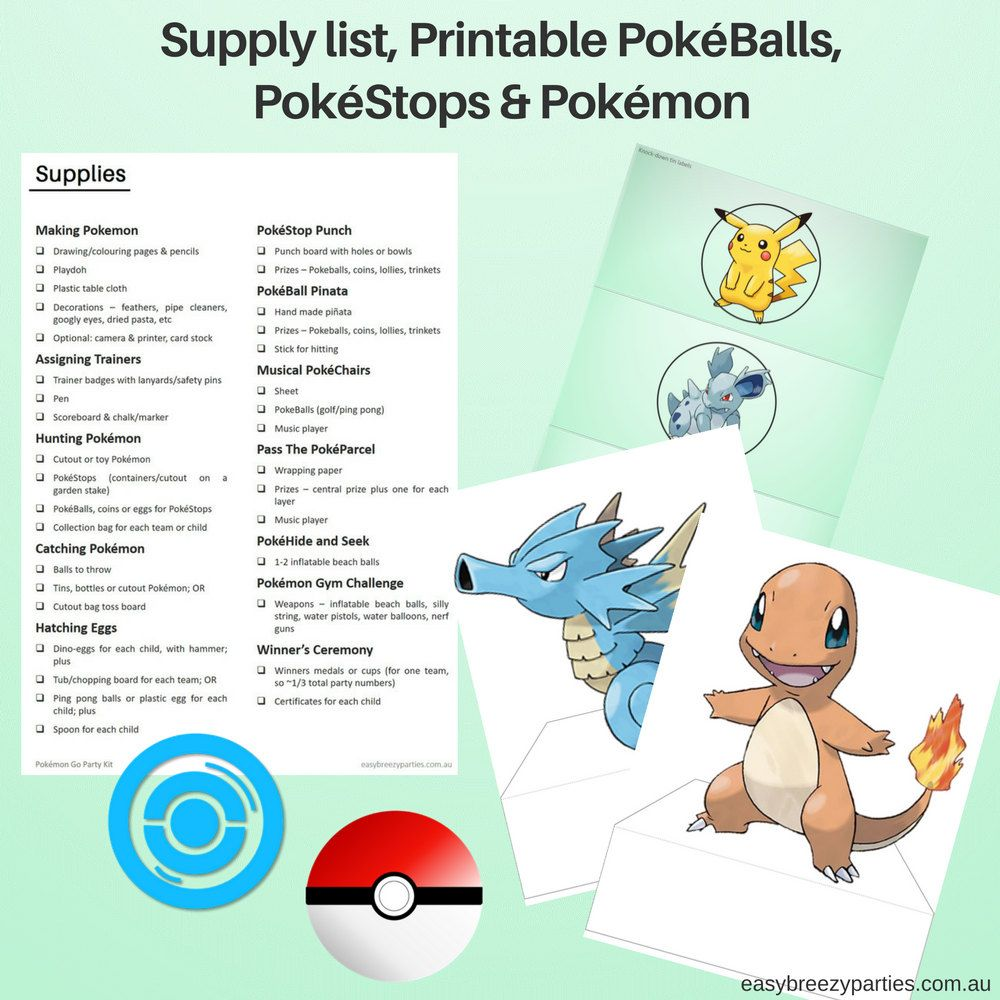 POKEMON GO Party Kit - Detailed activity instructions, printable ...