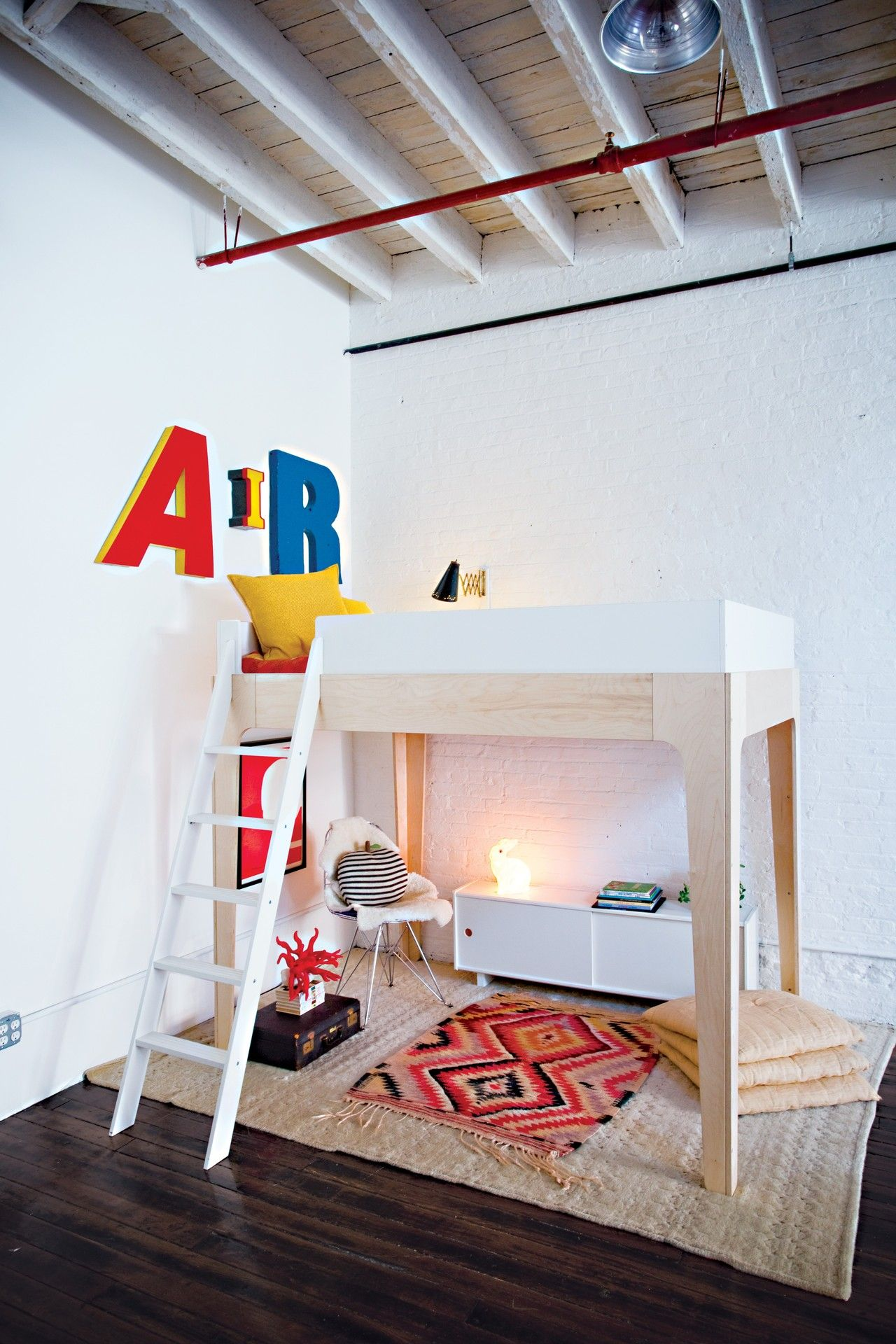 Loft bedroom ideas for boys  Kidus Room Ideas Decorating with Pops of Red  Pinterest  Red kids