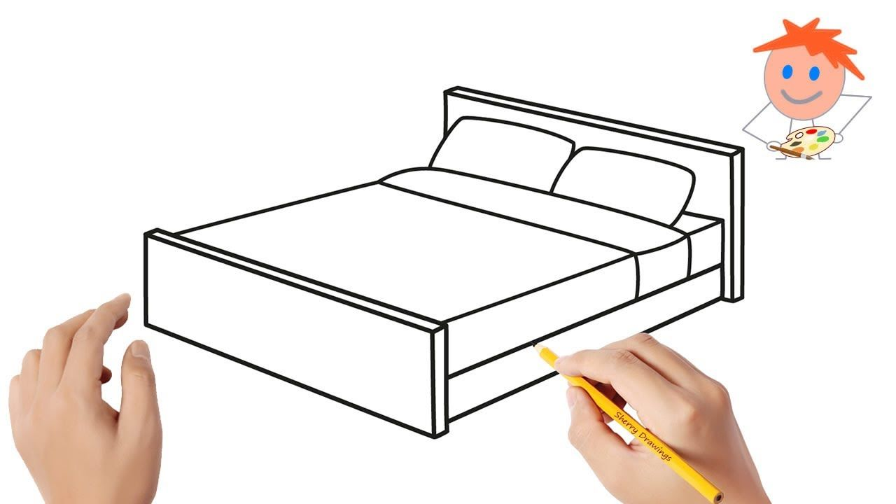 How To Draw A Bed Easy Step By Step Drawing For Kids In 2020 Easy Drawings Drawing Tutorial Easy How To Make Drawing Especially for children , by drawing not only help children to have a rewarding activity that drawing helps children develop thinking , imagination development. how to draw a bed easy step by step