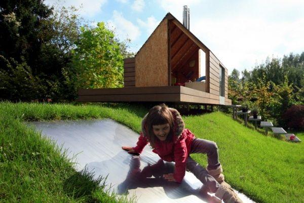 moderne gartenhäuser aus holz-für kinder | kinderzimmer, Wohnideen design