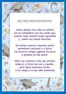 Poesia Para Niños Fin De Curso Buscar Con Google Palabras De Graduacion Imagenes De Niños Graduados Carta Despedida