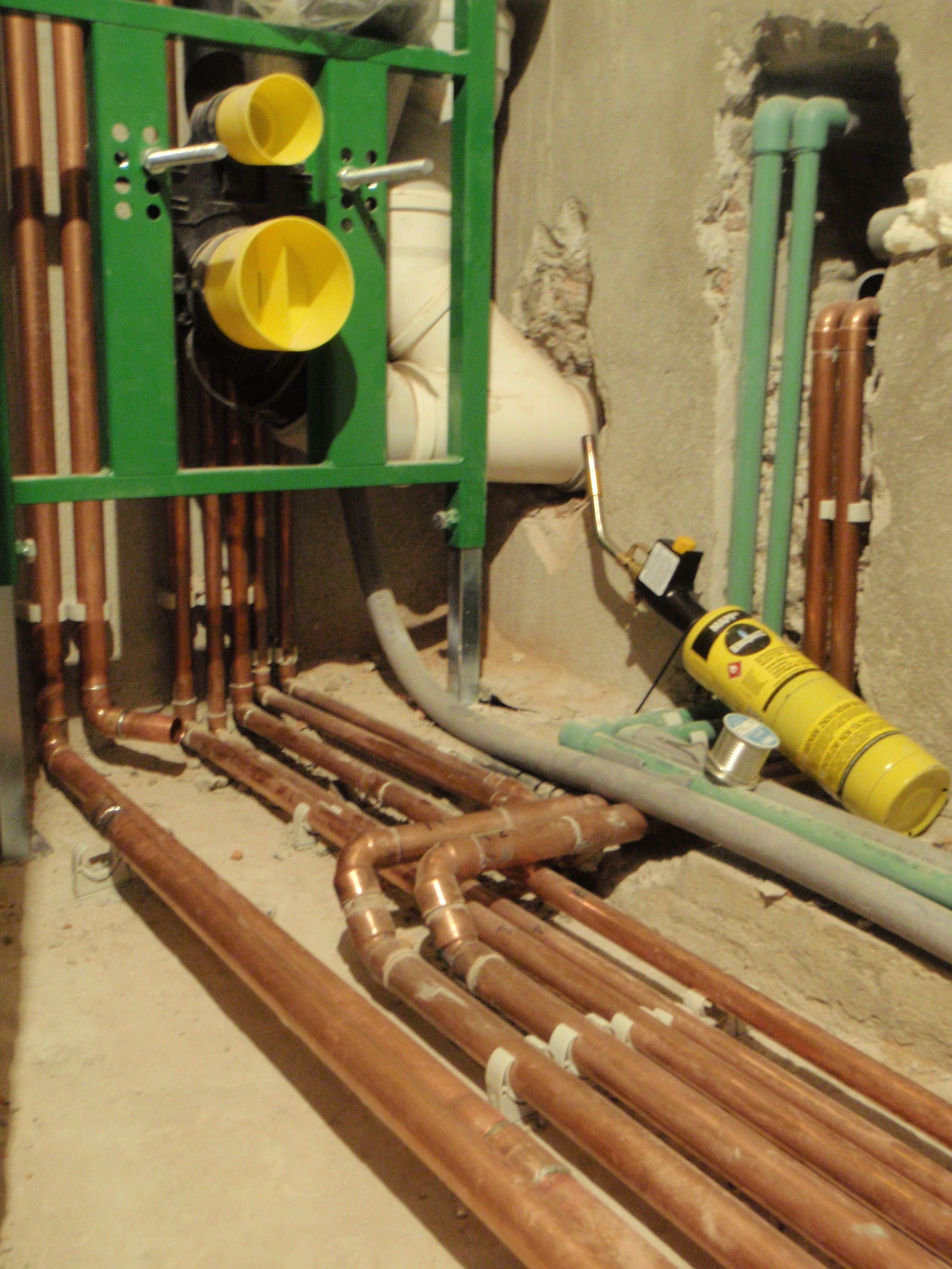 Copper pipefitter hydronic heating systems piping