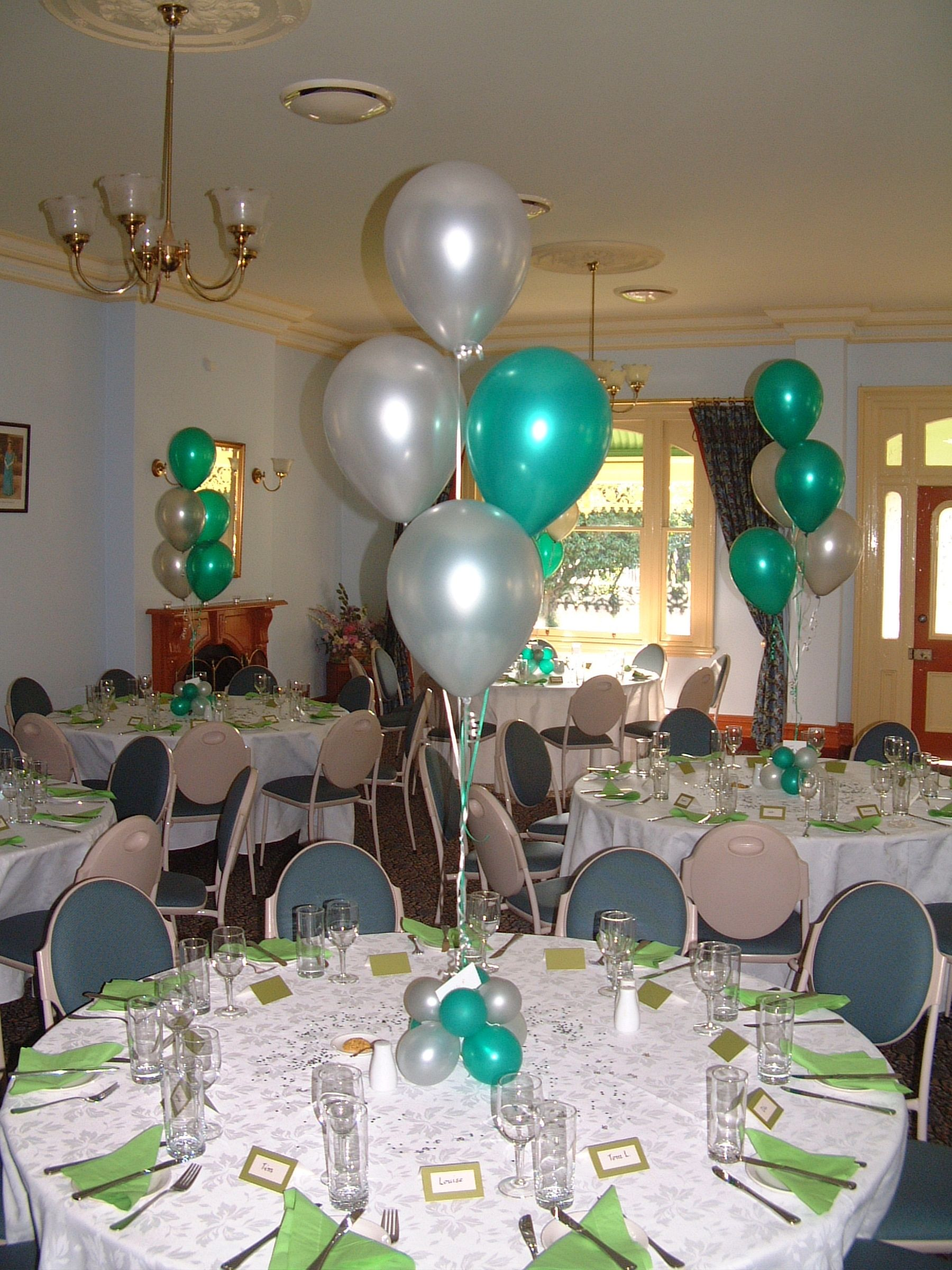 Emerald Green And Silver Silver Party Decorations Green Wedding