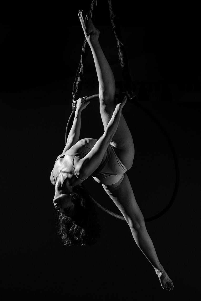 my favorite image, vertical split on lyra, aerial hoop, Aerialist: Brandi Powers, Photographer: John Milton