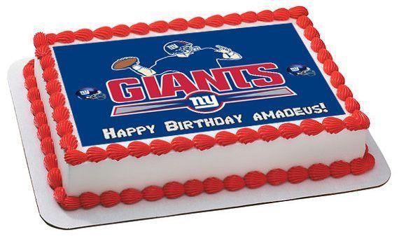 NFL NY New York Giants Edible Photo Cake Image Frosting Birthday Decoration