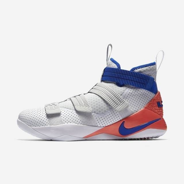 3fb668331fa5 Nike LeBron Soldier XI SFG 897646-101 White Blue Infrared Men s Basketball  Shoes SFG XI Nike  mensbasketball