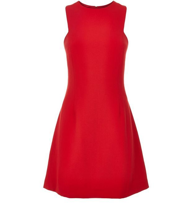 Robe patineuse rouge   New Look