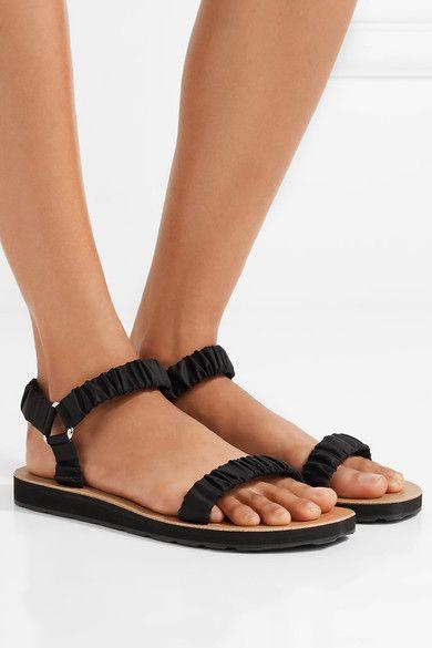 Black Egon canvas sandals   The Row