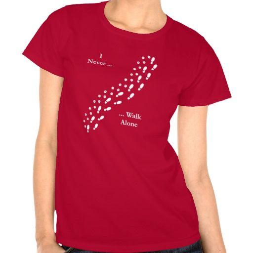 Dog Lover's I Never Walk Alone Pawprint T-Shirt