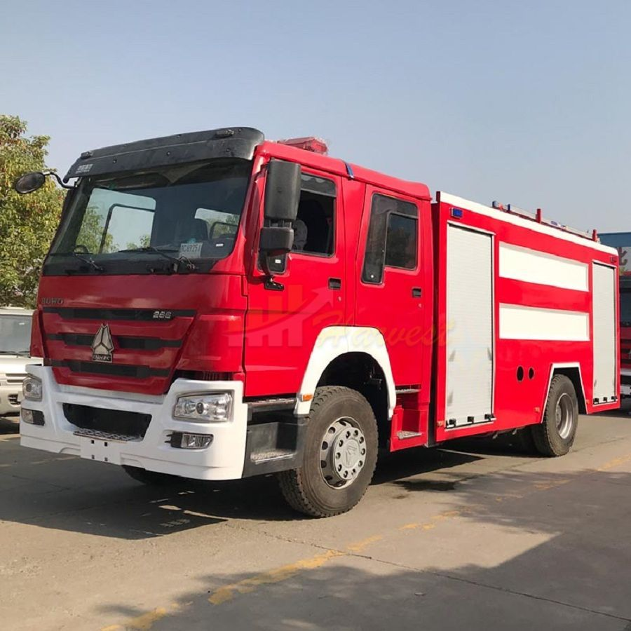 Howo 266hp Red Fire Truck Fire Fighting Truck Also Called Howo