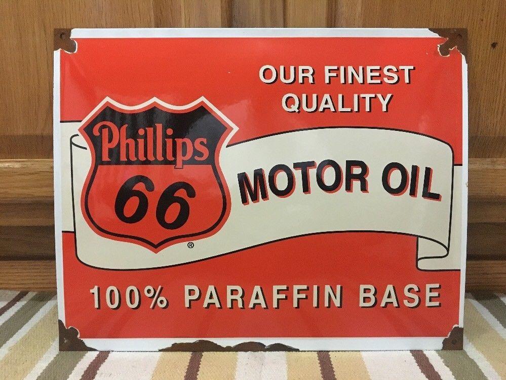 top quality MOBIL MOTOR OIL porcelain coated 18 GAUGE steel SIGN