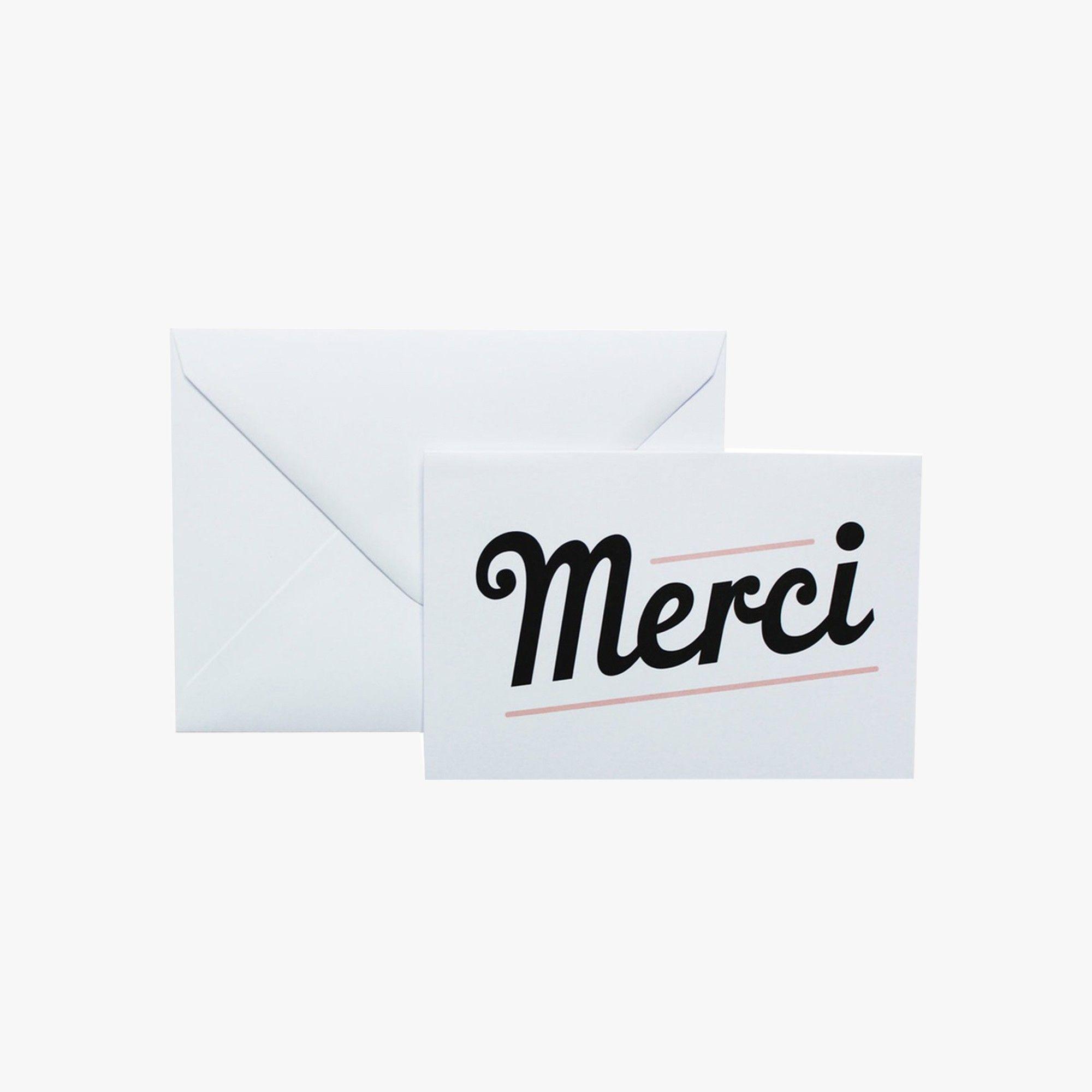 Carte pour remercier les gens qui nous auront fait des cadeaux (2,9€ la carte)