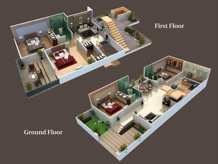 25 X 50 3d Plans With 30 X 60 3 Bedroom Plans Lovely Fresh Ideas 25 X 50 3d Duplex House Plans House Map Home Map Design