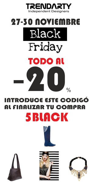 Black Friday in Trendarty.com -20% de DESCUENTO https://www.facebook.com/trendarty/?ref=hl https://twitter.com/trendarty5 https://es.pinterest.com/trendarty/ and https://vimeo.com/trendarty #blackfriday #lujo #luxury #jetset #richlife #vips #belleza #beauty #moda #rebajas #descuentos #chollos #lowcoast #bargain #outlet #modamuje #modahombre #modadeinvierno #dress #vestidos