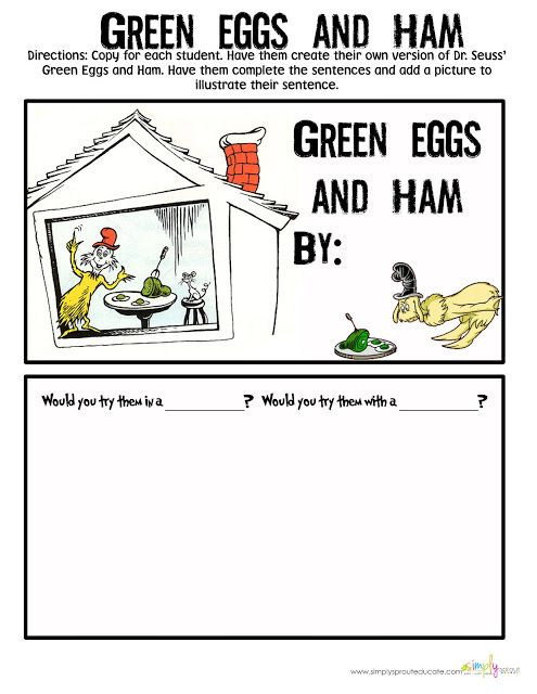 Dr Seuss Green Eggs And Ham Activities For The Classroom Read Across America