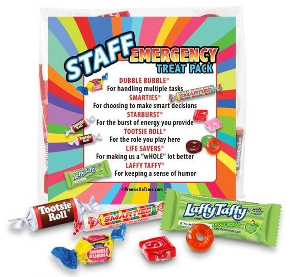 Staff Emergency Treat Pack Survival Kits - Employee & Staff Gift #custodianappreciationgifts
